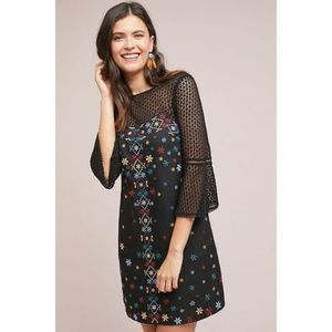 NWT ANTHROPOLOGIE Maud Embroidered Shift Dress